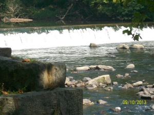 Brandywine River This dam shows off the hurry of the river to join the Delaware.