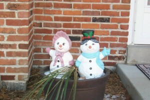 Winter Welcoming Couple